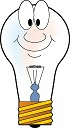 Light bulb happy face