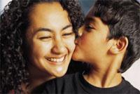 Boy Kissing Mother