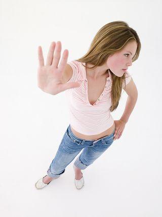 Teenage girl angry