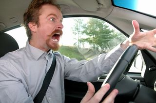 Angry Father Driving