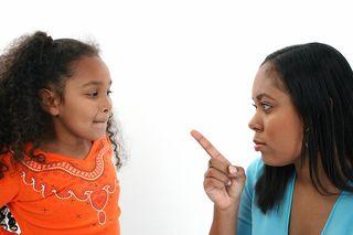 Mom disciplining