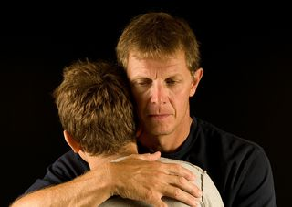 Father and Son Hug - Grief
