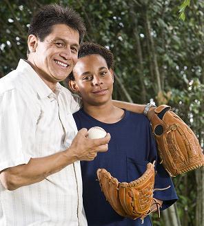 Dad and Son Baseball