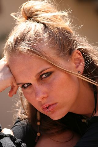Angry teenage girl bigstock-207930