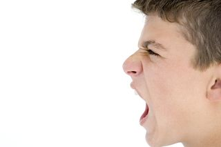Boy angry