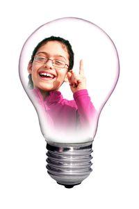 Girl with bright idea