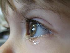 Baby with tear