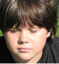 Boy meditation