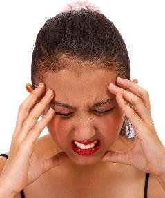 Mom with headache
