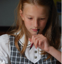 School Girl Thinking SMALL