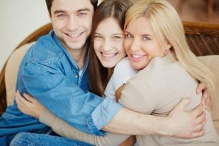 White Family Hugging