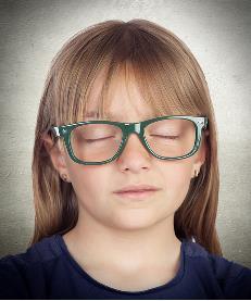 Girl Closed Eyes
