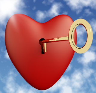 Heart-with-key-and-sky-background-showing-love-romance-and-valentines_fJPWHMP_