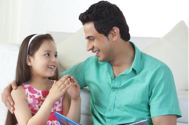 Dad and Daughter Deposit