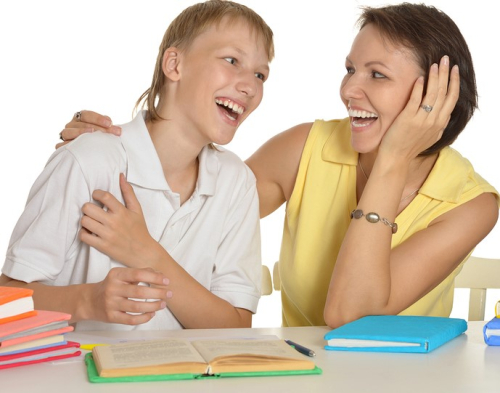 Homework Mom and Son 700
