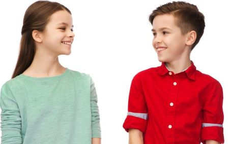 Girl and Boy Smiling 450
