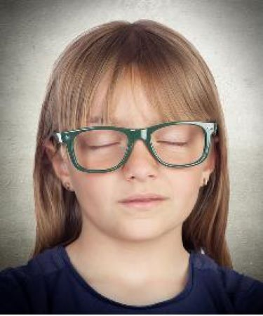 Girl Closed Eyes 450